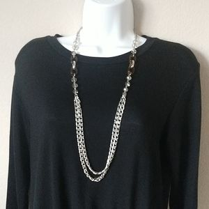 LOFT Beaded Chain Necklace - 35""
